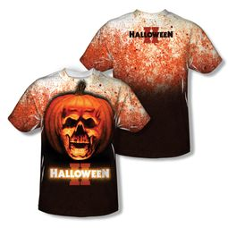 Halloween II Pumpkin Skull Sublimation Shirt Front/Back Print