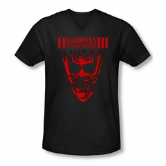 Halloween III Shirt Slim Fit V Neck Title Black Tee T-Shirt
