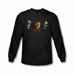 Halloween III Shirt Three Masks Long Sleeve Black Tee T-Shirt