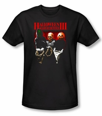 Halloween III T-shirt Movie Trick Or Treat Adult Black Tee Shirt