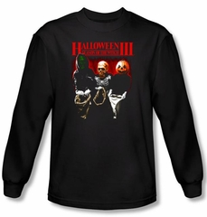 Halloween III T-shirt Movie Trick Or Treat Black Long Sleeve Shirt