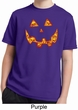 Halloween Jack O Lantern Skull Kids Moisture Wicking Shirt