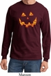 Halloween Jack O Lantern Skull Long Sleeve Shirt