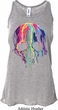 Halloween Melting Skull Ladies Flowy Racerback Tanktop