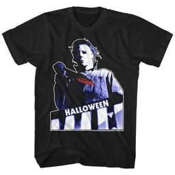 Halloween Shirt Bloody Knife Black T-Shirt