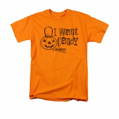 Halloween Shirt I Want Candy Orange T-Shirt