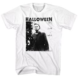 Halloween Shirt Michael Myers Watching  White T-Shirt