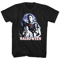 Halloween Shirt Movie Stars Black T-Shirt