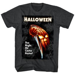 Halloween Shirt The Night He Came Home Black Heather T-Shirt