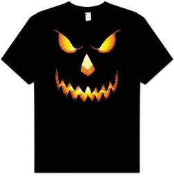 Halloween T-Shirts - Pumpkin Head Adult Black