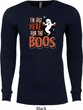 Halloween Tee I'm Here for the Boos Thermal Shirt