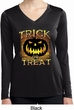 Halloween Trick or Treat Ladies Dry Wicking Long Sleeve Shirt