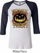 Halloween Trick or Treat Ladies Raglan Shirt