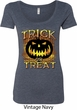 Halloween Trick or Treat Ladies Scoop Neck Shirt