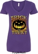 Halloween Trick or Treat Ladies V-Neck Shirt