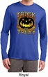Halloween Trick or Treat Mens Dry Wicking Long Sleeve Shirt