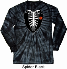 Halloween Tuxedo Long Sleeve Tie Dye Shirt