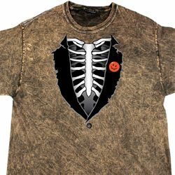 Halloween Tuxedo Mineral Washed Tie Dye T-shirt