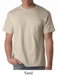 Hanes Beefy Shirt With Pocket Cotton Tee T-Shirt