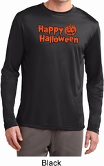 Happy Halloween with Pumpkin Dry Wicking Long Sleeve