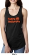 Happy Halloween with Pumpkin Ladies Ideal Racerback