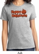 Happy Halloween with Pumpkin Ladies T-shirt