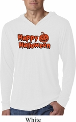 Happy Halloween with Pumpkin Lightweight Hoodie Tee