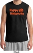 Happy Halloween with Pumpkin Muscle Shirt