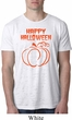 Happy Halloween with Pumpkin Sketch Burnout Shirt