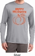 Happy Halloween with Pumpkin Sketch Dry Wicking Long Sleeve