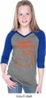 Happy Halloween with Pumpkin Sketch Girls V-neck Raglan