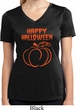 Happy Halloween with Pumpkin Sketch Ladies Dry Wicking V-neck