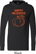 Happy Halloween with Pumpkin Sketch Lightweight Hoodie