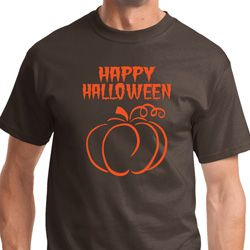 Happy Halloween with Pumpkin Sketch Mens Shirts