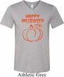 Happy Halloween with Pumpkin Sketch Tri Blend V-neck