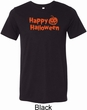 Happy Halloween with Pumpkin Tri Blend Tee