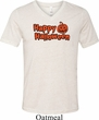 Happy Halloween with Pumpkin Tri Blend V-neck