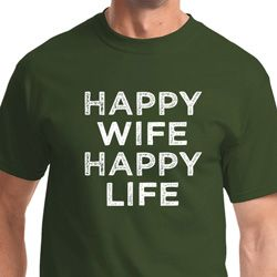 Happy Wife Happy Life Mens Funny Shirts