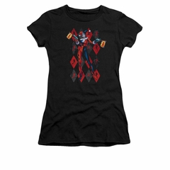 Harley Quinn Shirt Juniors Pow Pow Black T-Shirt