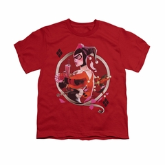 Harley Quinn Shirt Kids Q Red T-Shirt