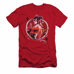 Harley Quinn Shirt Slim Fit Q Red T-Shirt