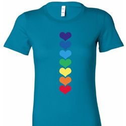 Heart Chakras Ladies Yoga Shirts