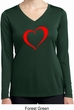 Heart Outline Ladies Moisture Wicking Long Sleeve Shirt