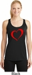 Heart Outline Ladies Moisture Wicking Racerback Tank Top
