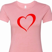 Heart Outline Ladies Shirts