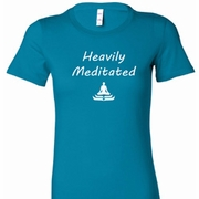 Heavily Meditated Ladies Yoga Shirts