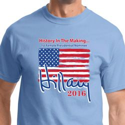 Hillary Clinton First Female President Shirts