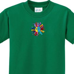Hippie Sun Patch Middle Print Kids Yoga Shirts
