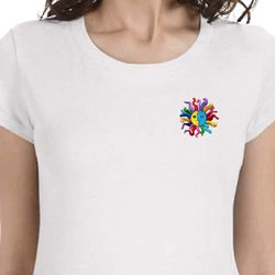 Hippie Sun Patch Pocket Print Ladies Yoga Shirts
