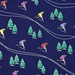 Hitting The Slopes Tie Blue Silk Necktie – Mens Sports Neck Tie